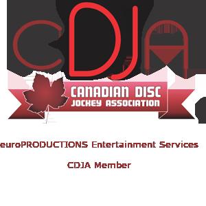 Proud member Of The Canadian Disc Jockey Association (844) 235-2357